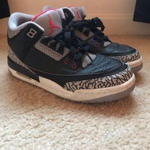 Boys Jordan Cement 3s